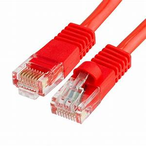 Rj45 1000 Mbps Cat 5e Ethernet Lan Network Red Cable