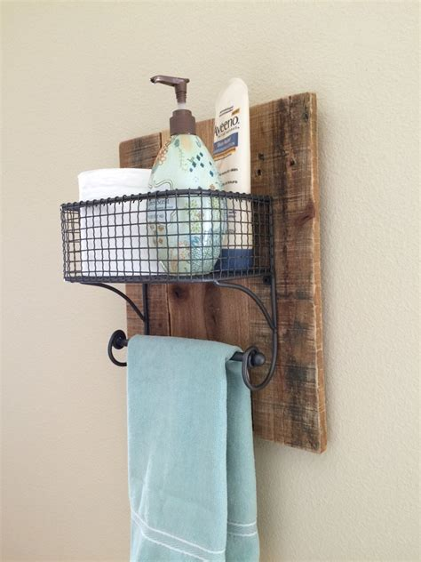 Bathroom Towel Racks Ideas by Rustic Towel Bathroom Organizer Rack On