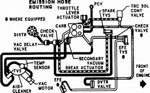 Vacuum Routing Diagram For 1984 Chevy 1 Ton Van  350 4bbl Automatic