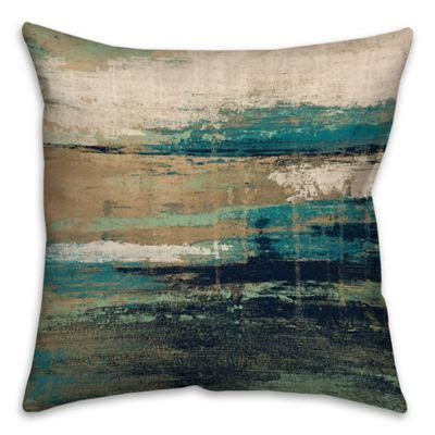 square abstract square throw pillow  bluebrown