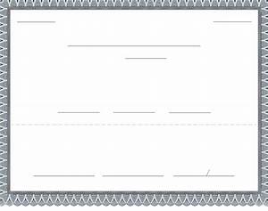 blank stock certificate template free download download With blank html templates free download