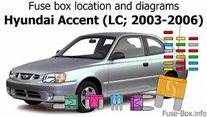 Fuse Box Location And Diagrams  Hyundai Accent  Lc  2003-2006