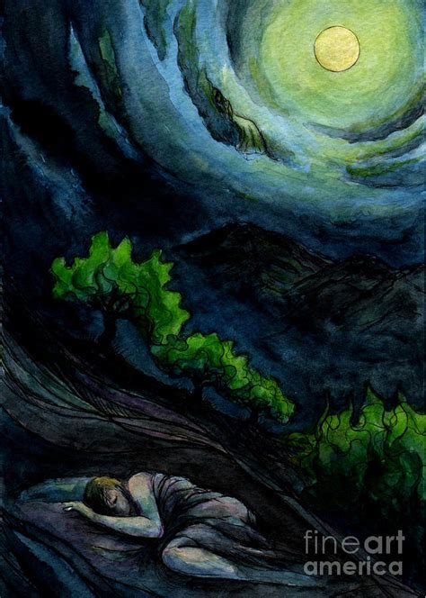 The paintings for which he is most noted include figure compositions, portraits and still lifes, which are often distinguished by unusual perspective effects. Boy Sleeping Full Moon Night Painting by Kirohan Art