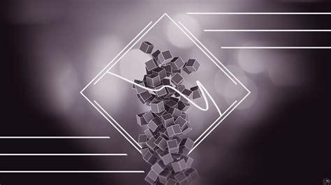 abstract  geometry cube digital art artwork lines