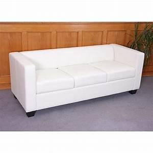 3er Couch : 3er sofa couch loungesofa lille leder kunstleder ~ Pilothousefishingboats.com Haus und Dekorationen