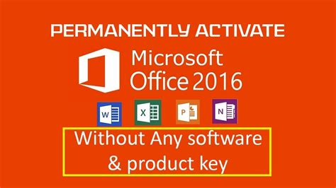 Permanently Activate Microsoft Office 2016 Pro Plus Without Any Software & Product Key [100