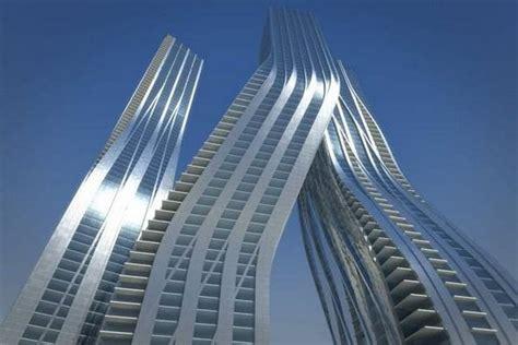 nuevos rascacielos modernos bajo construccion