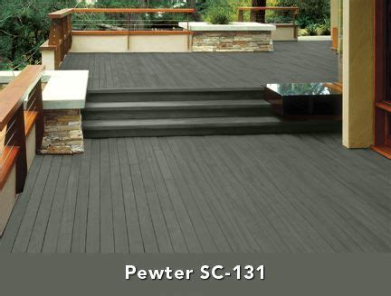 pewter  house big mess   deck stain colors