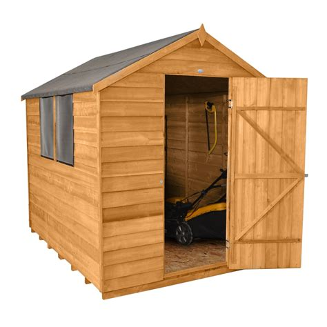 shed windows uk 8 x 6 overlap apex wooden garden shed with 2 windows and