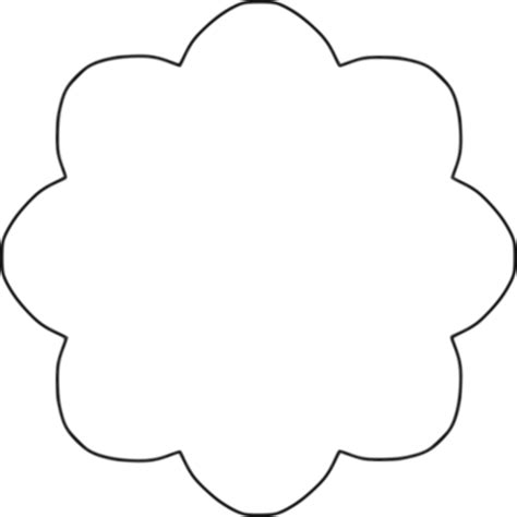 "Free clip art ""Flower 8 scallop circle background"" by BAJ"