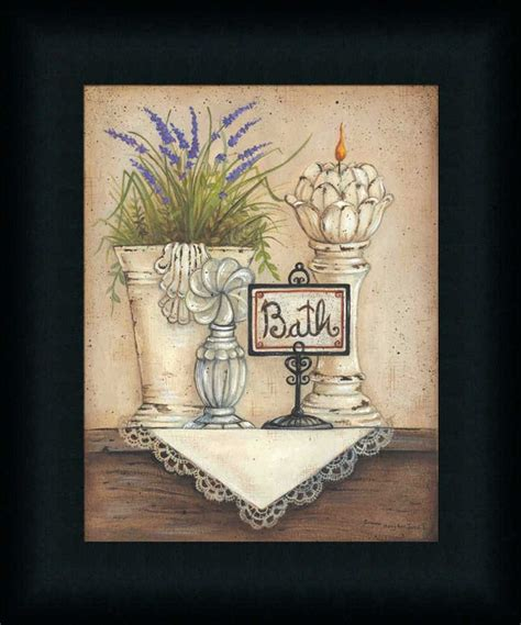 bath country bathroom print framed decor ebay