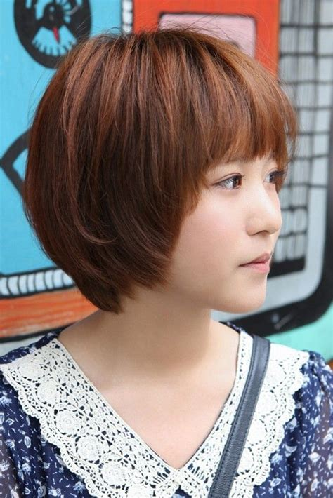 sweet layered short korean hairstyle side view  cute