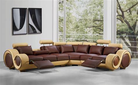 casa divani divani casa 4087 modern bonded leather sectional sofa