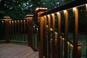 deck with rail lighting traditional porch dc metro by rjk construction inc