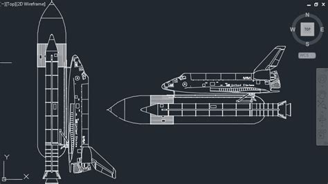 US NASA Space Ship Cad Block DWG » CADSample.Com