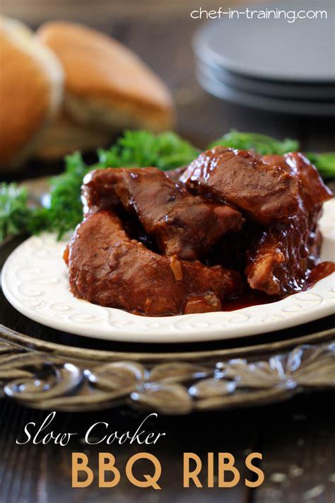 bbq ribs recipe slow cooker barbecue ribs recipe dishmaps