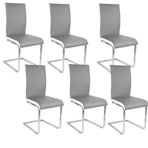 lot 6 chaises blanches lea lot de 6 chaises de salle à manger blanches grises