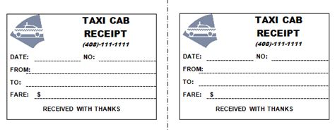taxi receipt template 50 free receipt templates sales donation taxi