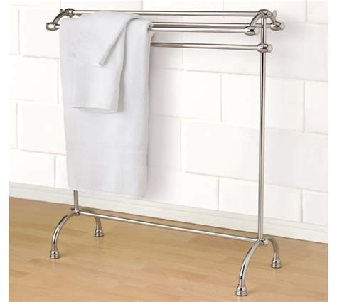 towel rack stand mercer towel stand pottery barn