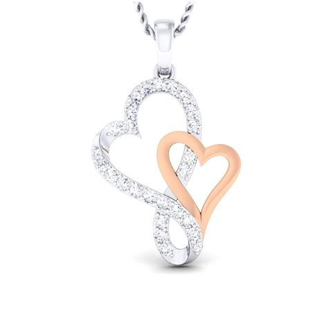 stylish heart pendant diamond jewellery   prices  india sarvadajewelscom