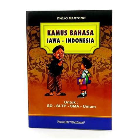 buku kamus bahasa jawa indonesia lengkap pusaka dunia
