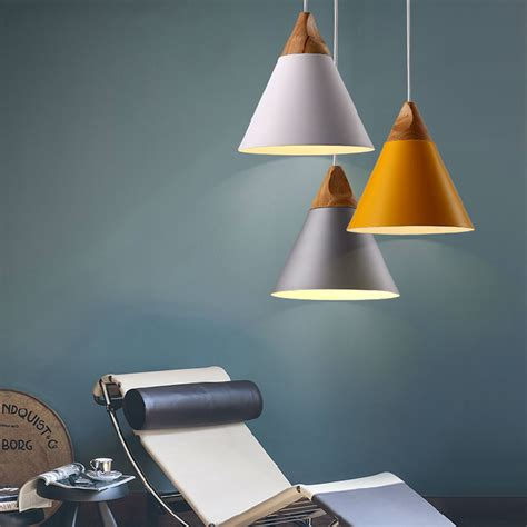 modern wood led ceiling pendant light modern place led