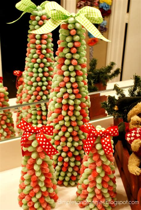 Gumdrop Christmas Tree Decorations by Gum Drop Trees And Wreaths Dimples And Tangles