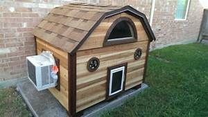 our new ac dog house made of cedar insulated with With dog house ac unit