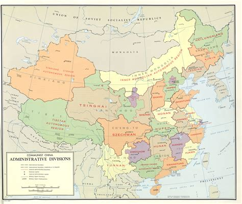 large scale detailed administrative divisions map  china