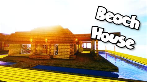 minecraft tutorials minecraft tutorial    build  simple beach house hd youtube