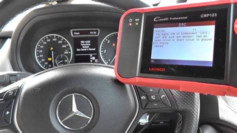 mercedes diagnose mercedes b class w246 abs ebd esp warning diagnose reset launch crp123