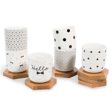 coffret  tasses  soucoupes en porcelaine noeud wishlist pinterest coffret tasse  noeud