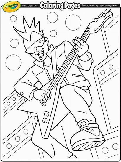 Coloring Pages Band Rock Roll Crayola Lead