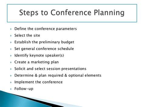 Conference Planning Presentation