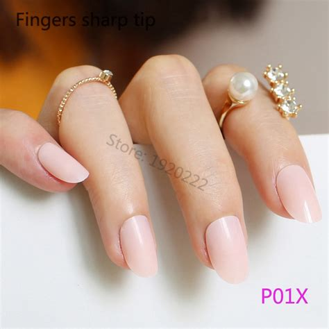 new q q q02 soft pink prm 01 popular oval nails buy cheap oval nails lots