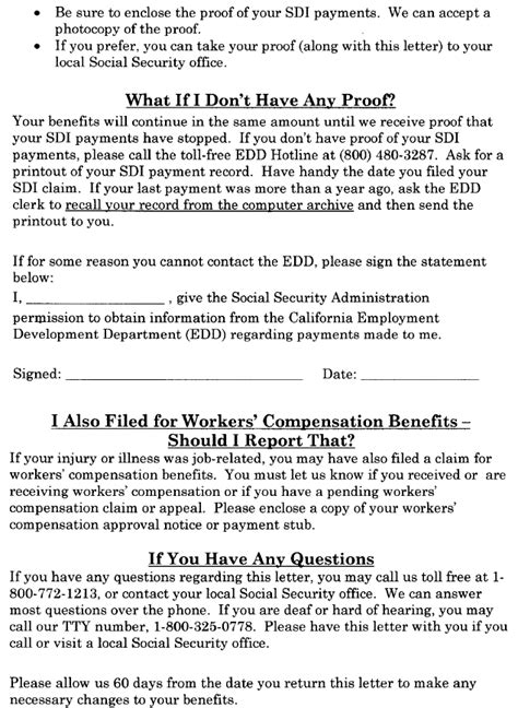 ssi benefit letter ssa poms di 52135 030 california disability 24952