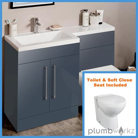L Shaped Bathroom Vanity Unit by L Shape Anthracite Bathroom Furniture Suite Basin Btw