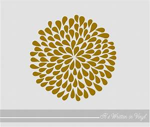 metallic gold mum flower 9 in vinyl lettering wall words With gold foil vinyl lettering