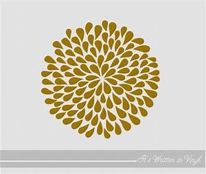 metallic gold mum flower 9 in vinyl lettering wall words With metallic vinyl lettering