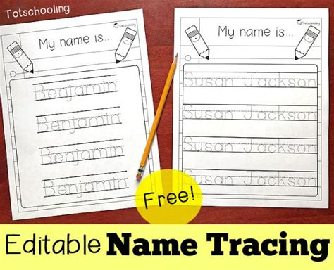 Name Template Maker by Editable Name Tracing Sheet Kindergarten School And