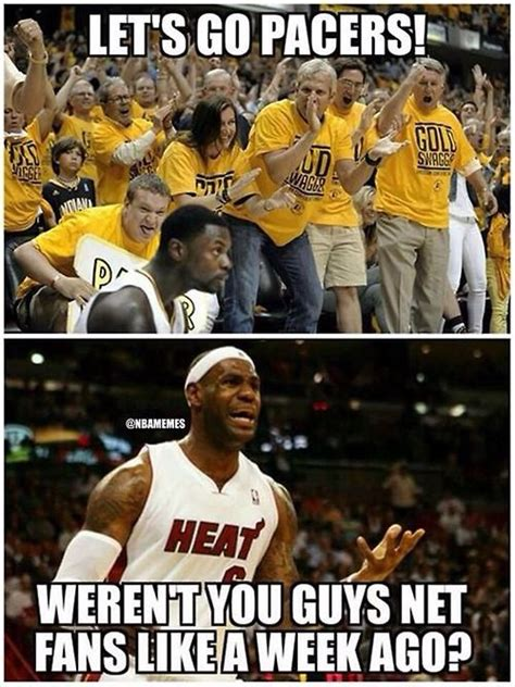 Pacers Meme - nba memes the indiana pacers fan base is growing bandwagoners miavsind http