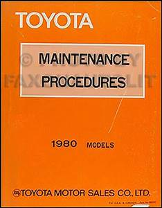 1980 Toyota Corolla Electrical Wiring Diagram Original