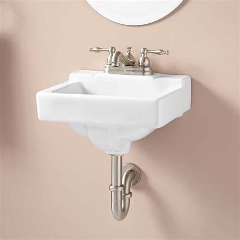 jellbeck porcelain wall mount sink bathroom