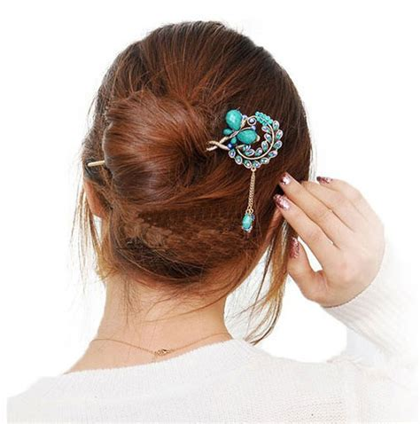 New 2016 Fashion Women Crystal Butterfly Flower Combs Hair