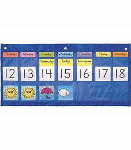Classroom Calendar Pocket Chart Weekly Calendar With Weather Pocket Chart Carson Dellosa