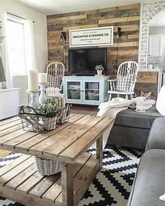 1001 conseils et idees pour amenager un salon rustique With tapis d entrée avec meuble combe canapé