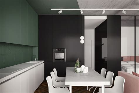 5 Contrasting Small Apartment Designs by 5 Studio Apartments With Inspiring Modern Decor Themes