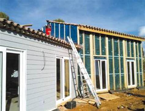 une maison en bois une maison en bois massif en provence mise en oeuvre construction