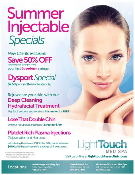 med spa specials lighttouch laser clinic