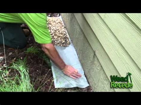 rock barrier   house foundation  easy  weed
